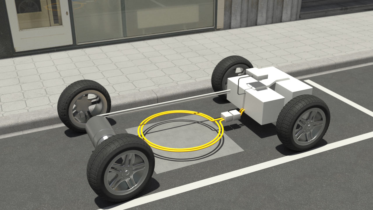 News field test on wireless charging of electric vehicles by daimler