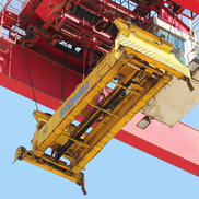 Spreader of a RTG gantry crane