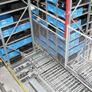 Conductor Rails in use at a Automated Storage and Retrieval System