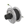 Externally mounted spring-driven cable reel