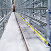 The single pole isolated aluminum conductors on the 0812 system from Conductix-Wampfler have a stainless steel running surface