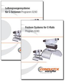 """Katalog """"Leitungswagensysteme für C-Schiene"""" Programm 0240"""