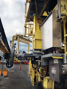 E-RTGs using Conductix-Wampfler's fully automated Drive-In L system